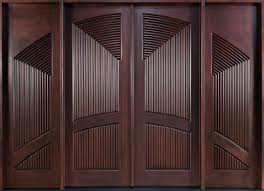 Wooden Door Elegant Brown Interior Wooden Door Modern That Has Large Design