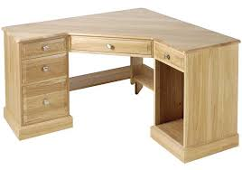 Wooden Corner Desk Top Have Slide Out Drawer For Keyboard by Unfinished Oak Corner Computer Desk With Rack For The Home