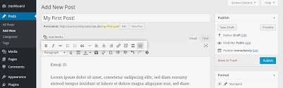 tutorial wordpress blog how to create a wordpress post 1 1 community