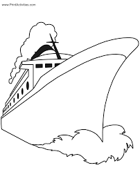 Printable Boat Coloring Pages Kids Coloring Pages