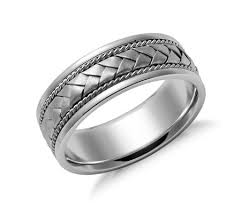 braided ring braided wedding ring in 14k white gold 7mm blue nile