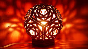How To Make A Cardboard Chandelier How To Make A Beautiful Geometric Cardboard Lamp Diy Home