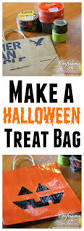 halloween crafts make a halloween treat bag with scotch duct tape