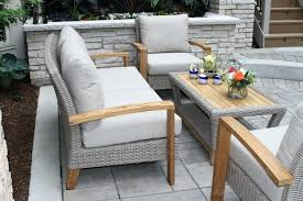 Patio Chairs With Ottoman Patio Ideas Deep Seating Patio Furniture Covers Dillard Teak And