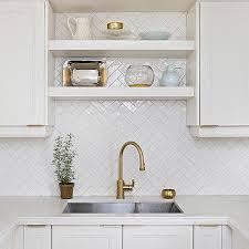 Shelf Over Kitchen Sink by White Herringbone Kitchen Sink Tiles Design Ideas