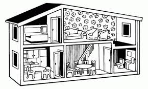dollhouse free printable coloring pages