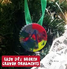 easy diy ornaments to make with broken crayons happy mothering