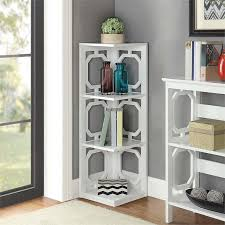 Corner Bookcase 3 Shelf Corner Bookcase In White 203270w