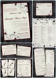 wedding menus and programs branches and vines archives page 10 of 13 emdotzee designs