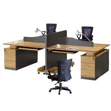 Simple Office Table Modern 4 Person Office Computer Workstation Desk Modern 4 Person