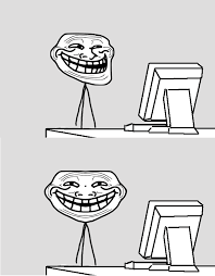Troll Pics Meme - just go on the internet and tell troll computer reaction faces