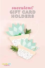 printable gift card succulent printable gift card holder gift idea
