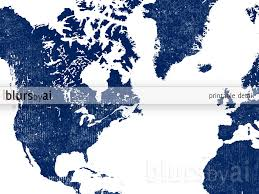 Printable World Map Printable Personalized World Map With Countries In True Navy Blue