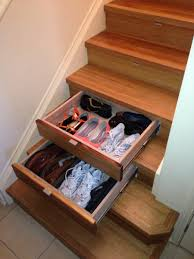 instep drawers under stair storage stairpro home deco
