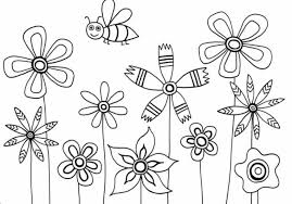 flowers coloring pages for kids coloring page