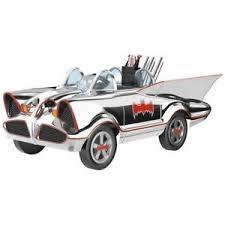 hallmark 2017 1966 white chrome batmobile kiddie cars ornament