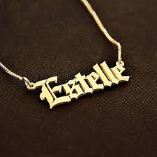 plated name necklace name necklace gold plated name necklace gift