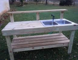 outdoor potting bench with sink plans home design ideas