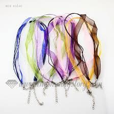 organza ribbon organza ribbon necklaces cord for pendants jewelry wholesale