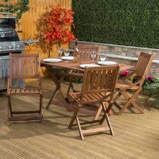 Garden Wood Chairs Sienna Rectangular Garden Dining Set Wood