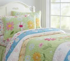 Girls Quilted Bedding by Daisy Garden Quilt Twin Green Mountain House Pinterest