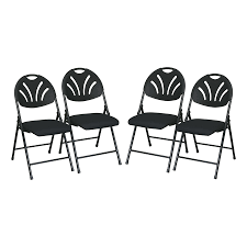 Lowes Office Chairs by Shop Office Star 4 Pack Standard Folding Chairs At Lowes Com