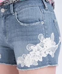light wash denim shorts embroidered light wash denim short rickis