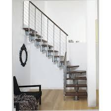 escalier design bois metal escalier long line pixima modulaire en bois et métal 12 marches