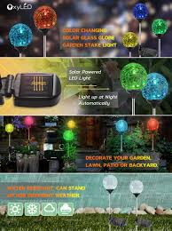 solar globe lights oxyled glass led light solar stake