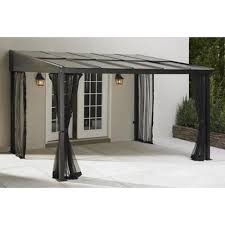 Brookstone Patio Furniture Covers - outdoor gazebo canopy add a room patio furniture shade deck