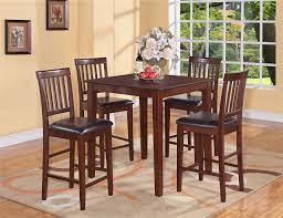 kitchen table round small high top wood live edge 6 seats brown