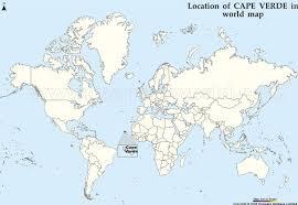 cape verde map world cape verde in world map timekeeperwatches