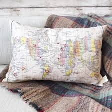 World Map Bedding Personalised Map Of The World Cushion