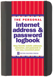 the personal internet address u0026 password log book peter pauper