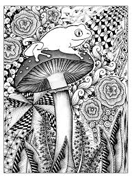 frog jungle jungle u0026 forest coloring pages for adults justcolor
