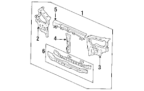 1994 honda accord radiator parts com honda accord radiator support oem parts