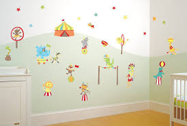Bedroom Wall Decals Uk Mr Giggle U0027s Circus Boys Nursery And Bedroom Wall Sticker Decor Kit