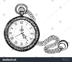 vector illustration vintage watches on chain stock vector