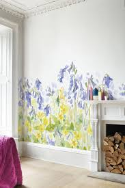 64 best murals for girls images on pinterest girls bedroom a pretty woodland frieze giant scale bluebell primrose and honeysuckle flowers this mural is designed to decorate the bottom of the wall