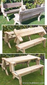 Free Plans For Picnic Table Bench Combo by Folding Picnic Table Now It Is Two Benches Now It U0027s Benches And