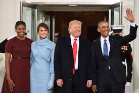 obamas welcome trumps at white house new york post