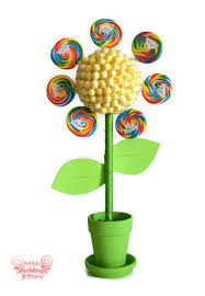 Candy Topiary Centerpieces - circus birthday party candy bouquets birthday wikii
