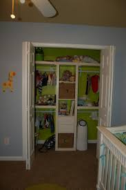 cheerful nursery closet design ideas exposed organized wardrobe