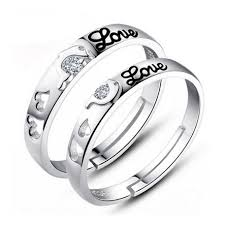 promise ring sets for him and hearts promise rings for him and personalized couples
