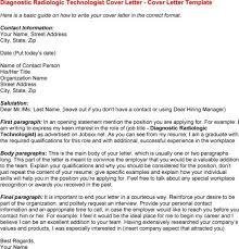 radiologic technologist cover letter radiology medical