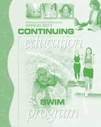 mohonasen spring 2017 continuing education and swim program guide