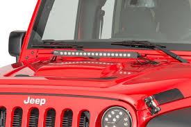 jeep jk hood led light bar putco luminix jk jeep hood 20 inch light bar bracket kit