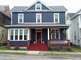 houses painted blue with navy exterior red doors navy blue houses