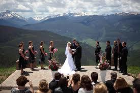 colorado mountain wedding venues wedding at vail mountain colorado s most award winning wedding