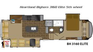5th Wheel Camper Floor Plans Bighorn 5th Wheels By Heartland Rv